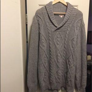 Gray men's XL sweater